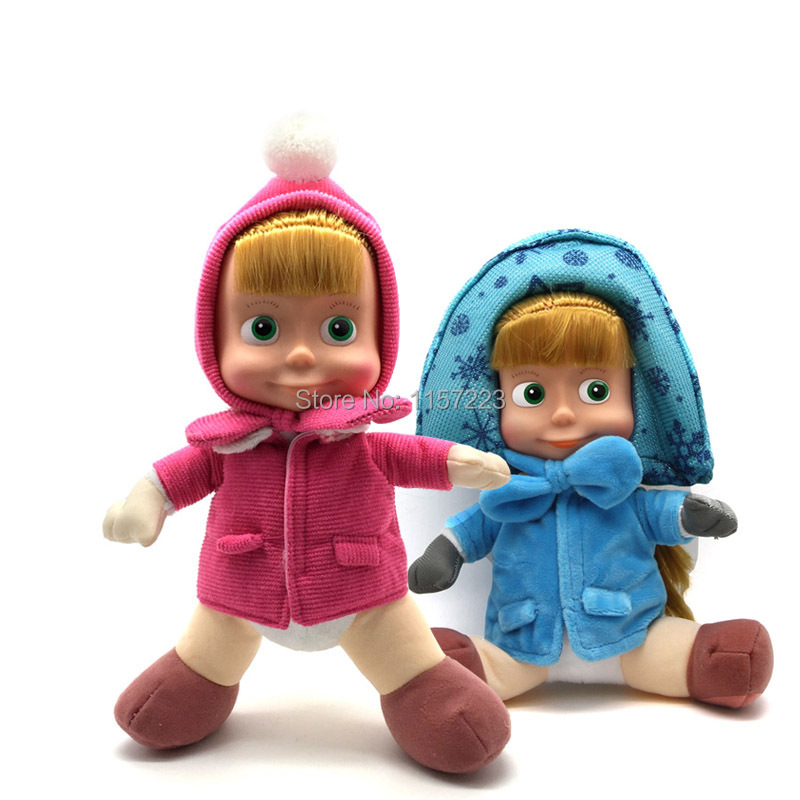 Low price Stuffed Animals &amp; Plush Toys Masha And Bear doll Russian Movie Masha plush Toy Dolls For Gifts No Music<br><br>Aliexpress
