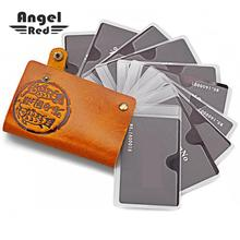 Buy Angel Red Unisex Cow Genuine Leather Wallet Men Passport Wallet Card Holders Credit Card Holder Women Casual Hasp Cardholder Id for $14.24 in AliExpress store