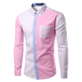 New Design Striped Shirt Men Autumn Fashion Mens Slim Fit Long Sleeve Dress Shirts Casual Brand
