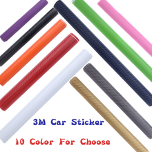 DIY 3D Car Sticker 3Pcs/Lot Carbon Fiber Vinyl Film Waterproof Car Wrap Automobiles Motorcycle Accessories Car Styling 127X10cm