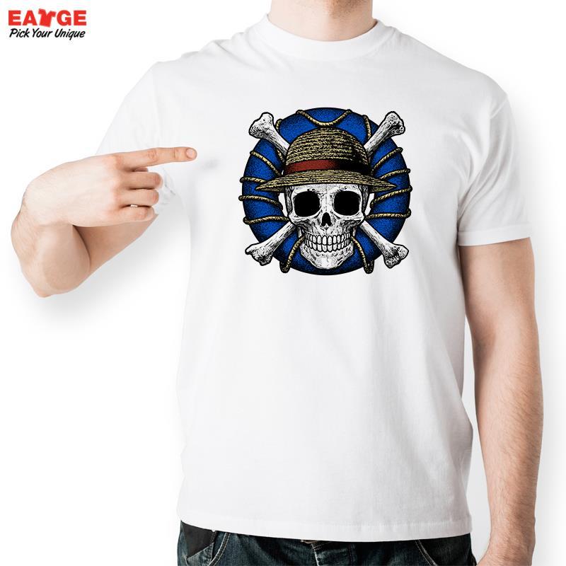 One Piece Skull Hat T Shirt Popluar Anime Character Design T-shirt Unisex Printed Top Tee Cool Fashion Novelty Style Pop Tshirt(China (Mainland))