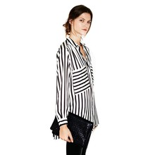 Buy New Summer Formal blouses Long Sleeve Button Women's Shirt Vertical Striped Chiffon Pocket Career Tops for $5.24 in AliExpress store