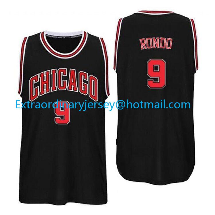 2016 New Rajon Rondo Jersey # 9 Men's Rondo Basketball Jersey,Embroidery Gold Blue White Black Basketball Jersey,Free Shipping(China (Mainland))