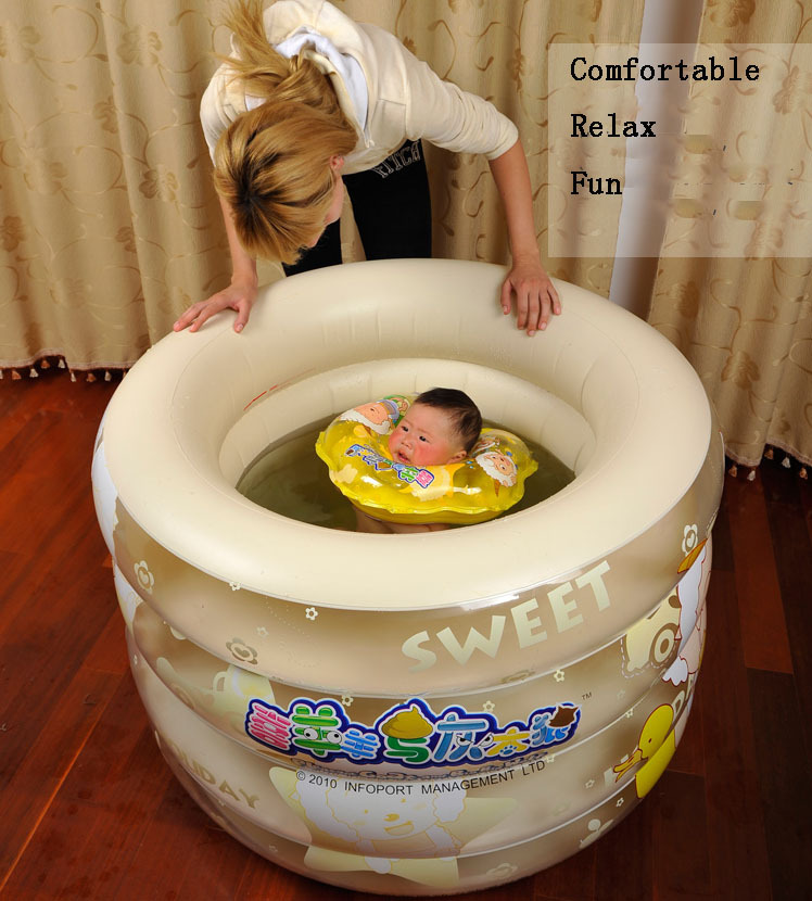 jilong children's inflatable swimming pool kid's piscina 103*75cm,include foot pump+repair patch,suit 0-2 years old(China (Mainland))