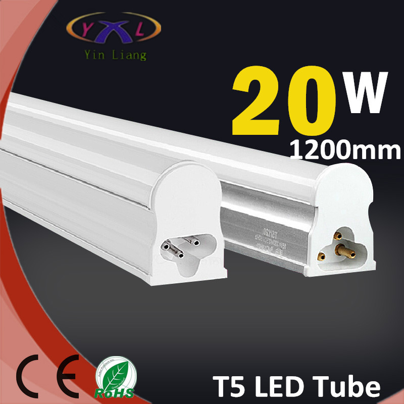Led Tube Lights 1200mm T5 20W Tubes Led 120 cm SMD 2835 Super Brightness Led Bulbs Fluorescent Tubes AC110-220V Constant Current(China (Mainland))
