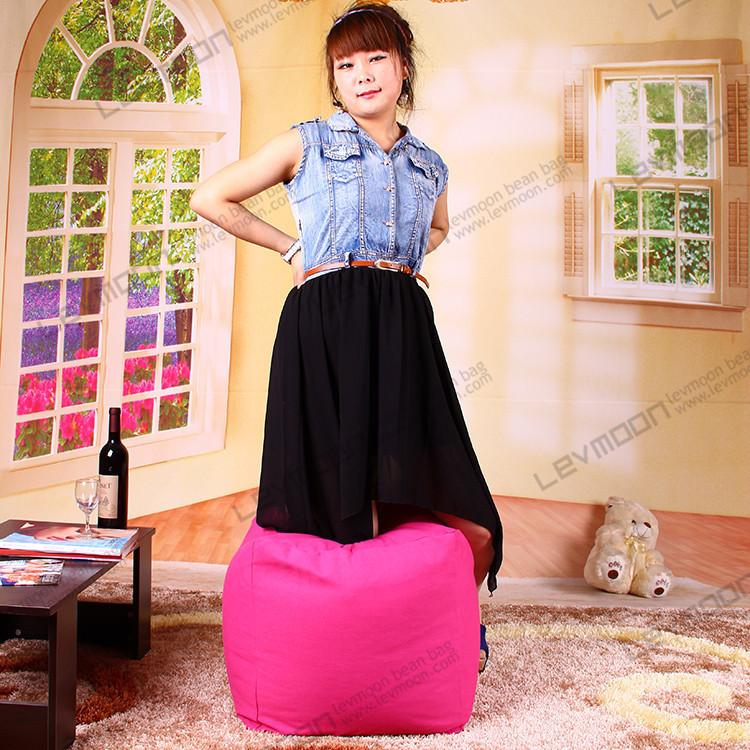 FREE SHIPPING small bean bag chair covers best bean bag 100% cotton canvas tblue bean bag store(China (Mainland))