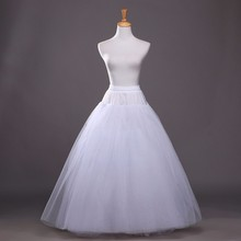 2016 Hot Sale Cheapest A-Line White Wedding Petticoat Free Size Bridal Slip Underskirt Crinoline White For Wedding Dresses