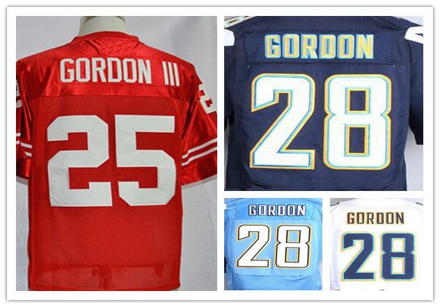 New 2015 Stitched Melvin Gordon III Wisconsin Jersey 25 Red White Navy Blue Top Elite 28 Melvin Gordon Football Shirt Light Blue(China (Mainland))