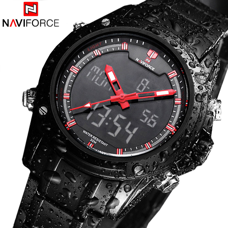 Sport Men's Quartz Wrist Watch NAVIFORCE Military Watch For Men Clock Full Steel Men Watches Relogio masculino Reloj Hombre 2016(China (Mainland))