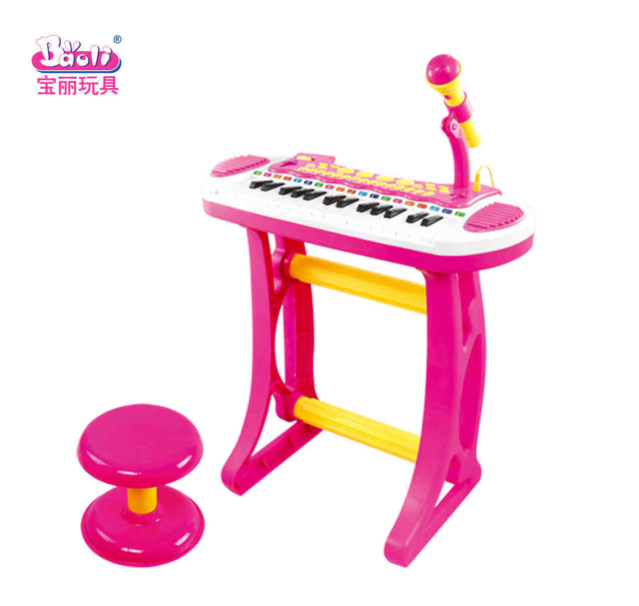 Children's electronic piano with a microphone to children's Educational multi functional girl electronic piano toys(China (Mainland))