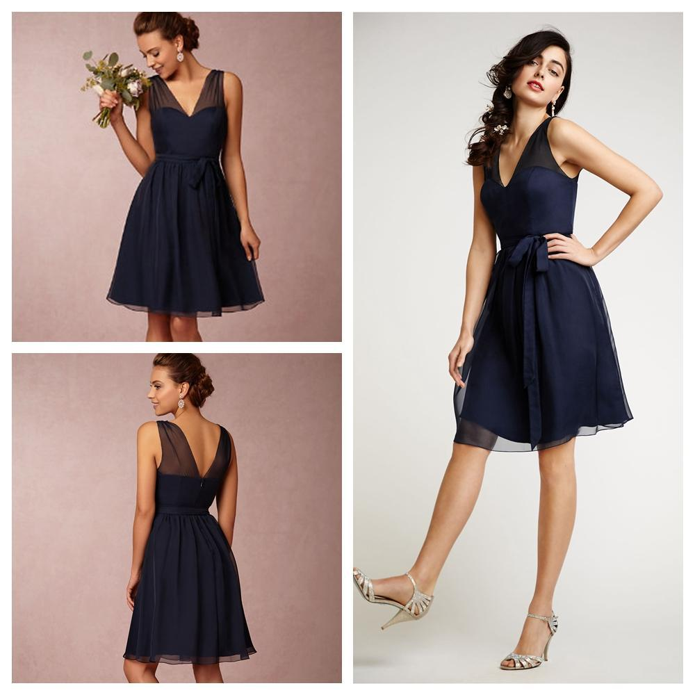 Short bridesmaid dresses navy blue plus size bridesmaids for Cheap wedding and bridesmaid dresses