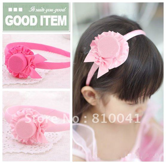 Baby's Satin Little Hat  Design  Hair Band   50pcs Free Shipping