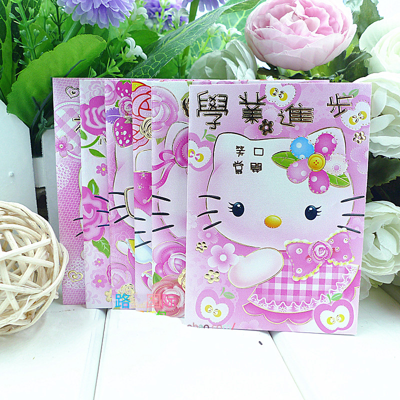 (150 Pcs/Lot) New 2016 the Chinse Ram Year Beautiful Hello Kitty Red Packet Envelope Packets Best New Year Gift(China (Mainland))