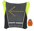 Motorbike Cycling Reflective Safety Vest Motorcycle Reflective Safety Vest LED Backpack Vest Pilot Lamp Bicycle Lights