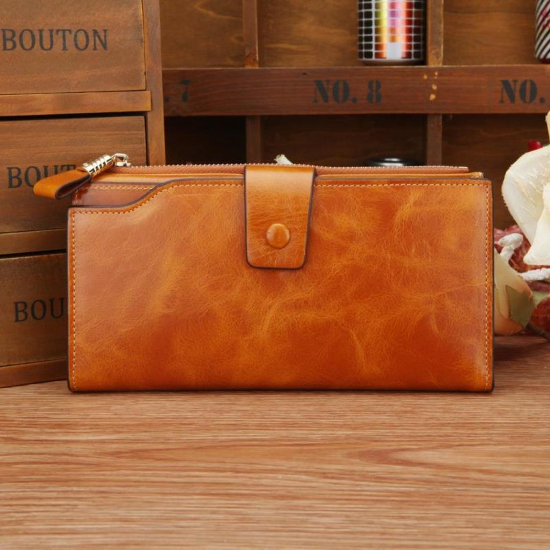 2015 New Design Fashion multifunctional purse Genuine Leather Wallet W