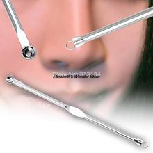 2pcs Hot Silver Blackhead Comedone Acne Blemish Extractor Remover Newest Cosmetic Tool Top Quality(China (Mainland))