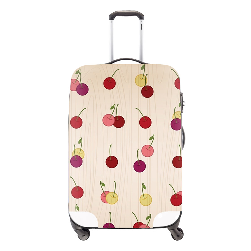 Fashion Women Luggage Protective Covers Thick Elastic Cherry Waterproof Girls Travel Suitcase Covers For 18-30 Inch Trolley Bag(China (Mainland))