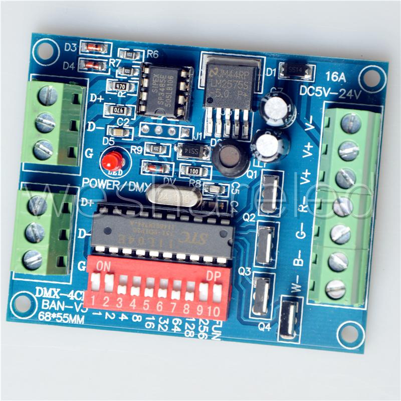 4CH RGBW dmx512 dimmer Controller,4 channel Easy dmx 512 dimmer,LED DMX512 decoder(China (Mainland))