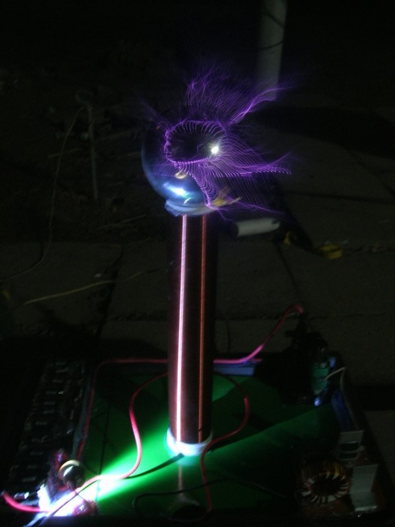 DC 12V PLLSSTC phase-locked loop solid state Tesla Coil tesla coil amazing flashing Generator high volt Marx generator(China (Mainland))