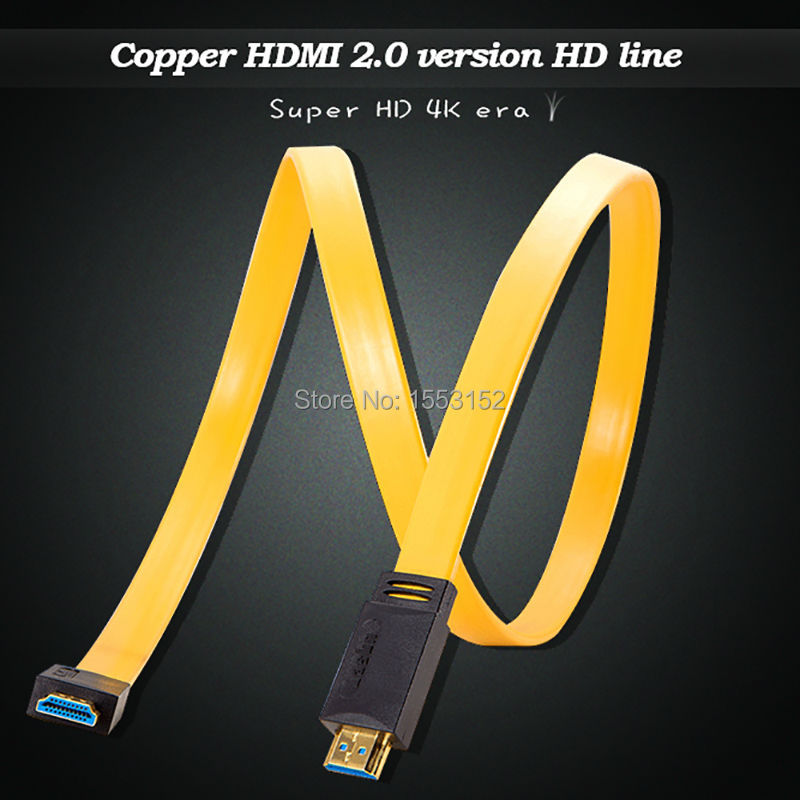HDMI 2.0 Version HDMI cable Copper Plated HDMI Cable for HDTV 1080P 2K 4K 3D Ethernet YELLOW Color(China (Mainland))