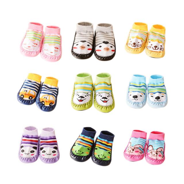 Детские носки с подошвой мальчик мультфильм нескользящей пола носки для девочек сгущаться ...