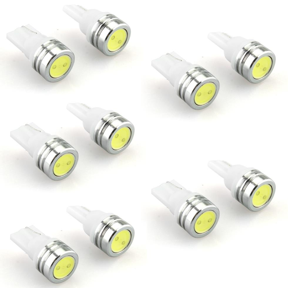 10 x T10 W5W 501 158 Car Side Wedge Bulb Lamp Bright Pure White LED Light 12V()