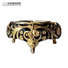 Gohide Advanced Gold Ashtray Anti Oxidation Black Ashtray Home Ktv Bar Supplies Sold By Piece Pocket Ashtray(China (Mainland))