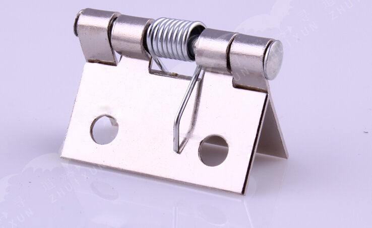 1 inch spring hinge Small spring hinges with spring hinges nickel plated(China (Mainland))