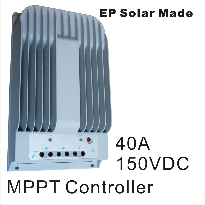40A 12V 24V New Tracer 4215BN 40 amps MPPT Solar Charge Controller Boost Float Low Charging voltage adjustable PC Connect work(China (Mainland))