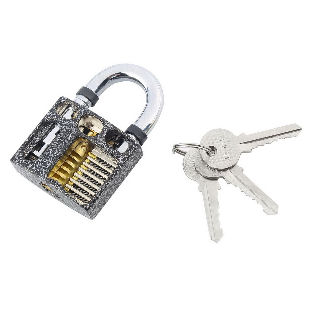 New Perspective Cutaway Inside View Practice Padlock Lock Locksmith Training Skill Craft Learning Tool With 3