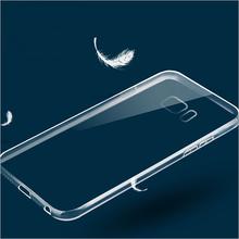 S6 край ясно кристалл ультра-тонкий чехол 0.3 мм мягкое покрытие TPU для Samsung Galaxy S6 край G9250 прозрачно-обратно капа резиновая оболочка