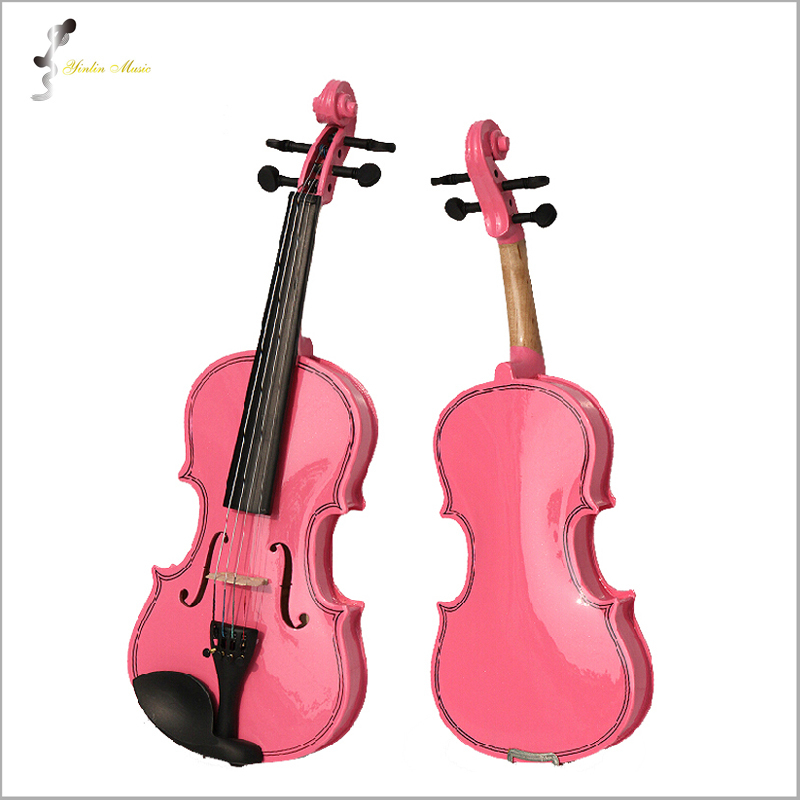 Фотография Pink Violin 4/4 1/4 3/4 1/2 1/8 Size Available Violin in Full Set withBow, Rosin and Case Colorful Violins Many Colors Available