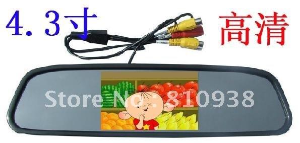 4.3 inch TFT LCD rear view mirror car hd monitor Free shipping