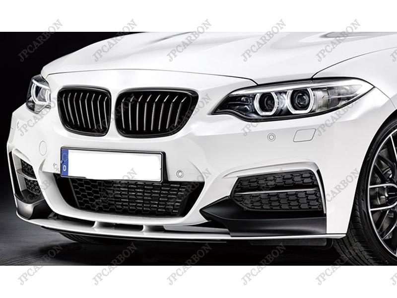Unpainted Fiberglass Front Bumper Corners Splitters for 2014 2015 BMW 2 Series F22<br><br>Aliexpress