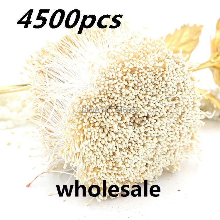 Оптовая 4500pcs/путешествия 1мм слоновая кость цвет жемчужный цветок цветочный пестик тычинка тычинка торт украшение ремесла Сделай сам