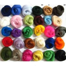Set of 36 colors african lace fabric Wool Fibre Wool Roving For Needle Felting Hand Spinning NEW Craft Materials Free Shipping(China (Mainland))