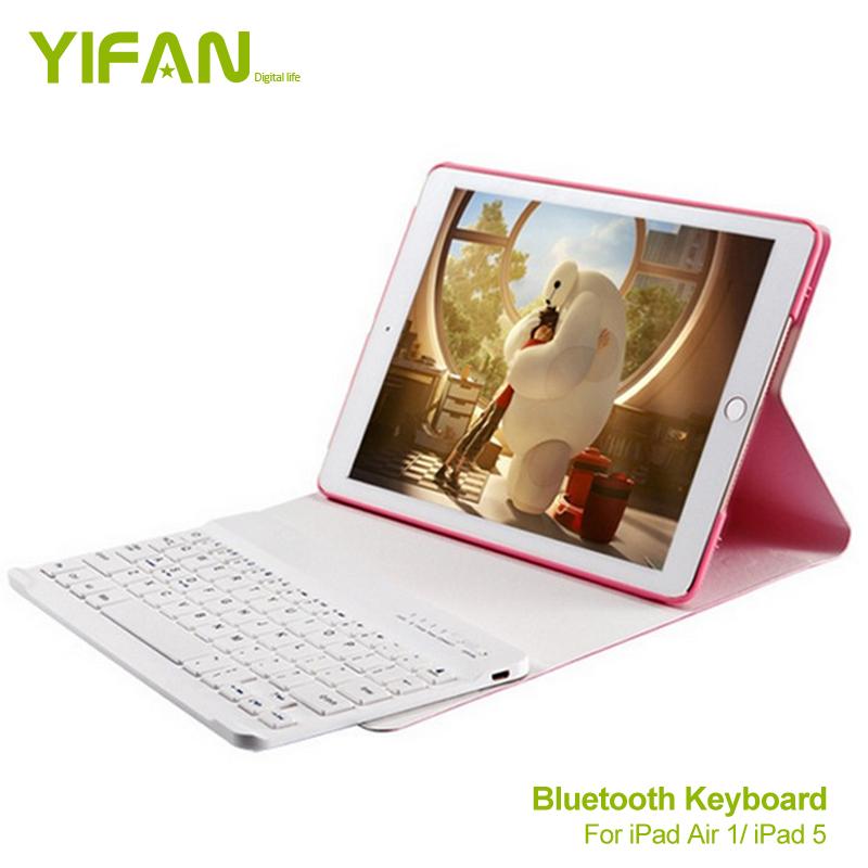 Fashion Folio Case Bluetooth Keyboard For ipad air / ipad 5 Ultra Slim With 360 Degree Rotation and Comfortable Low-Profile Keys(China (Mainland))