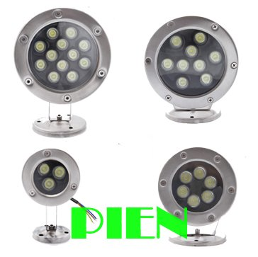 IP68 waterproof led lamp Underwater aquarium 3W 6W 9W 12W LED fountain pond pool AC 85V-265V by DHL 10pcs<br><br>Aliexpress
