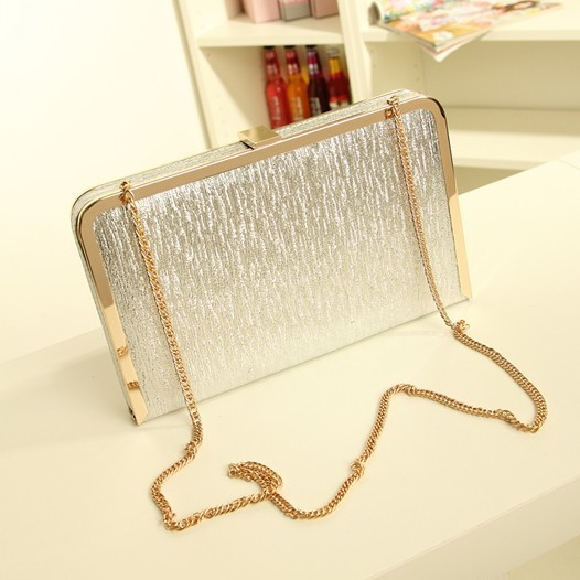 Гаджет  New 2015 Bling Women Evening Bag Gold and Silver Color Clutch Box Bags Women Handbag Shoulder Bag Cross-body Bags WB9056 None Камера и Сумки