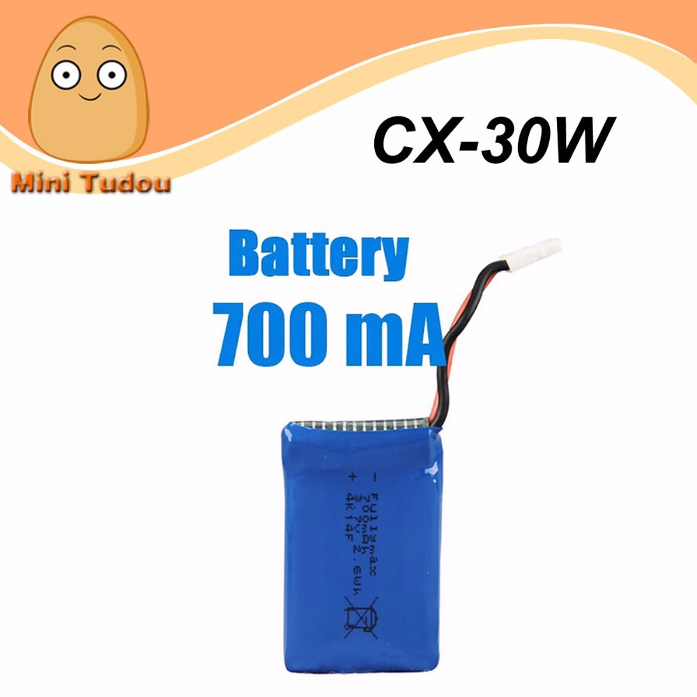 3 7V 700Mah Battery For Cheerson CX 30W CX 30C Quadcopter Spare Parts Lipo Battery 3