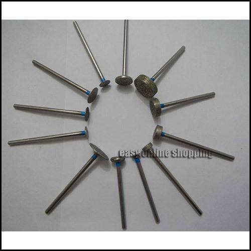 NEW 12 x Dental Lab Assorted Diamond Burs Millers Tooth Drill Jewelers 2.35mm <br><br>Aliexpress