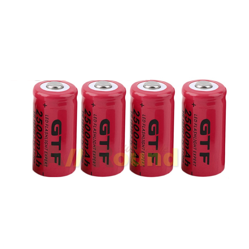 4pcs/lot 3.7v 2300mAh 16340 cr123a rechargeable battery lithium-ion battery for the red LED of flashlight(China (Mainland))