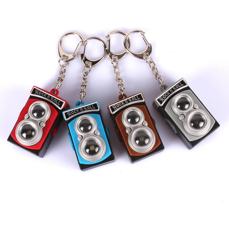 Retro vintage camera chain sound light keychains flashlight sound ring cartoon toys rock n roll keychains gift free dhl<br><br>Aliexpress