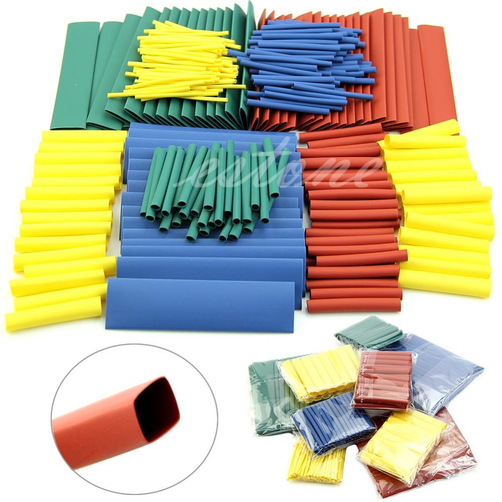 Гаджет  Free Shipping New Kit 260pcs Assortment 2:1 Heat Shrink Tubing Tube Sleeving Wrap Wire 8 Sizes   None Электронные компоненты и материалы