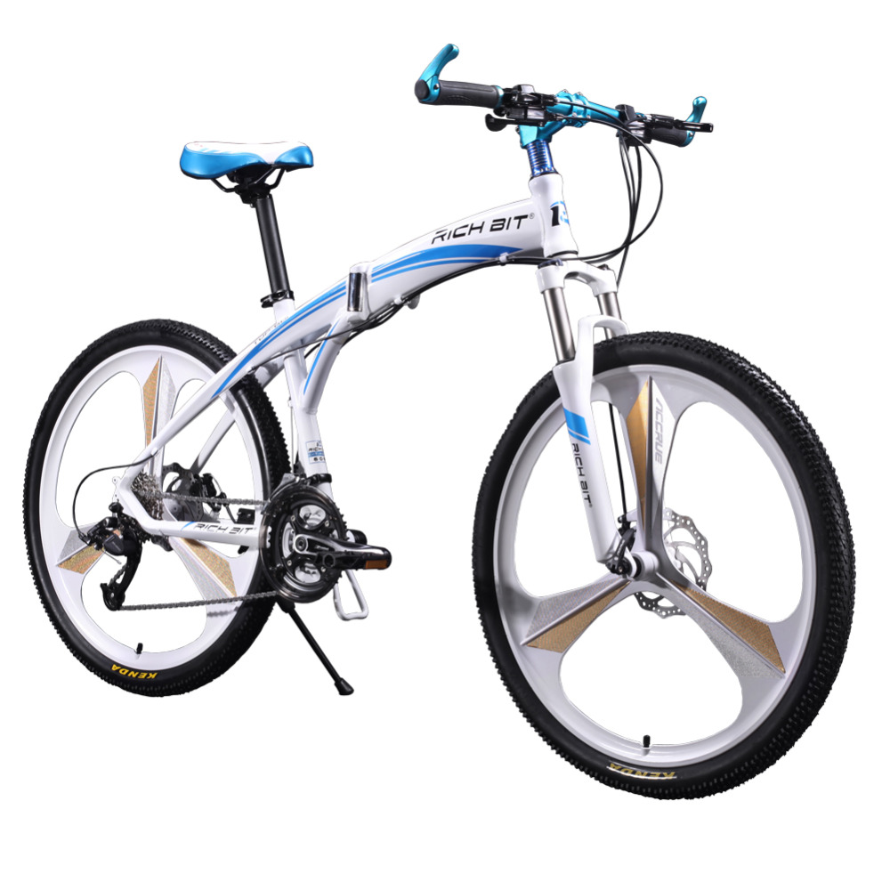 New 601 Richbit Bicycle 26inch Mens Aluminum Folding Mountain Bike 27 speeds 3 spokes Mountain Bike