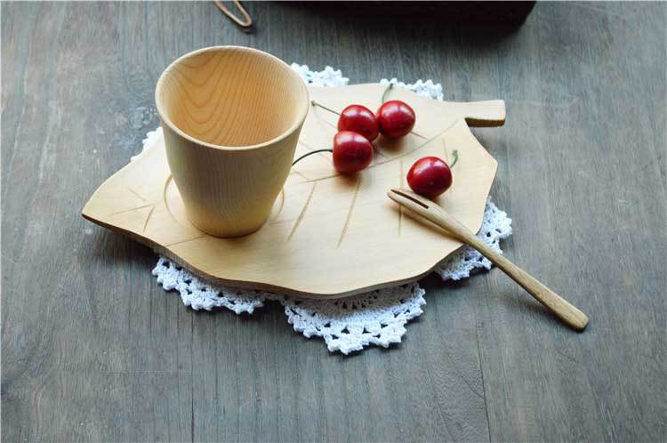 2015 Creative cupholders Japanese hemlock tea tray mat dessert dishes Leaf-type mat table accessories(China (Mainland))