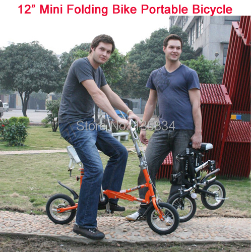 "12"" Mini Folding Bike Brand Travel bike Mini Bicycle Bicicleta 5 Spokes Including Free Gift Bag 3in1 City Bike BMX Portable Bike(China (Mainland))"