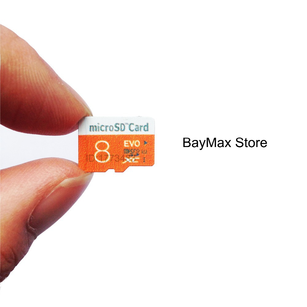 2016 Newest Orange white bicolor 100% Capacity Micro SD Card 8GB class 10 TF Flash Memory Card Free Gift adapter Free shipping(China (Mainland))