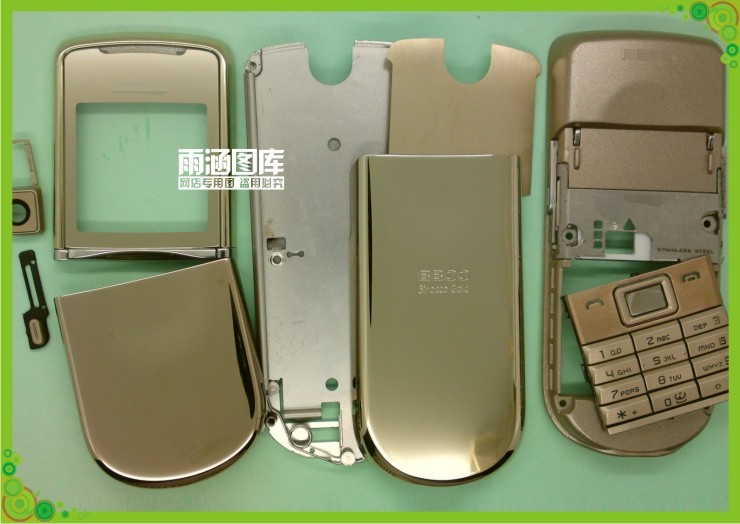 For Nokia 8800SE 8800 Sirocco New Full Housing Cover Case Front Frame+Battery Door+Middle Cover Free Shipping(China (Mainland))