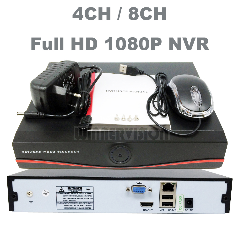 4CH/8CH NVR Full HD 1080P Network Video Recorder P2P HDMI VGA Output For Security IP Camera System Mobile Phone Remote View(China (Mainland))